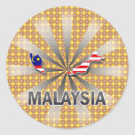 Malaysia Flag Map 2.0 Round Stickers
