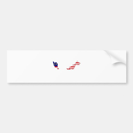 Malaysia Flag Map full size Bumper Sticker