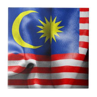 Malaysia Flag Small Square Tile