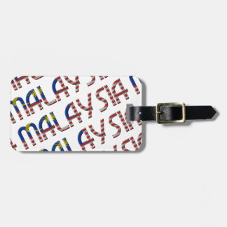 Malaysia Flag Typography Pattern Asian Country Bag Tag