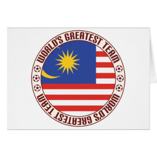 Malaysia Greatest Team Greeting Card