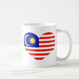 Malaysia heart coffee mug