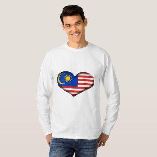 Malaysia Heart Flag T-Shirt