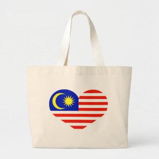 Malaysia heart jumbo tote bag