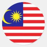 Malaysia High quality Flag Round Sticker
