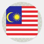 Malaysia High quality Flag Round Stickers