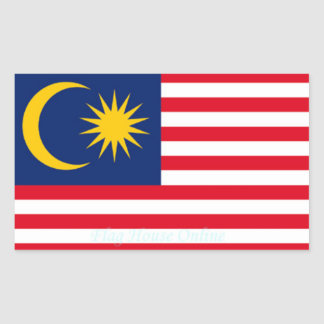 Malaysia - High Quality Flag Sticker