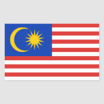 Malaysia/Malaysian/Malay Flag Rectangular Sticker