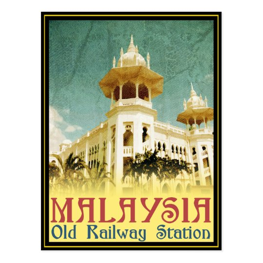 Malaysia Old Railway Station Postcard Zazzle Co Uk