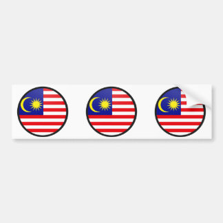 Malaysia quality Flag Circle Bumper Stickers