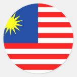Malaysia Round Stickers