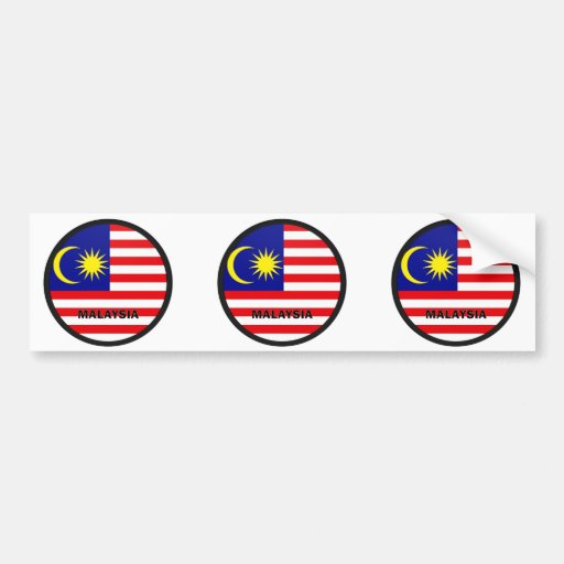 Malaysia Roundel quality Flag Bumper Sticker