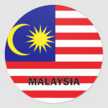Malaysia Roundel quality Flag Round Stickers