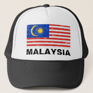 Malaysia Vintage Flag Trucker Hat