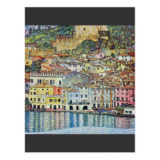 Malcena at the Gardasee by Gustav Klimt Postcard