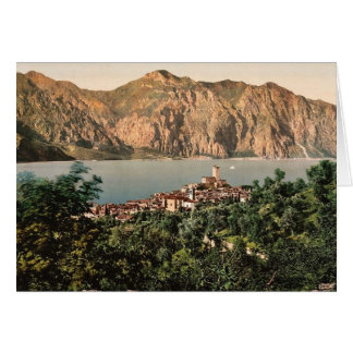 Malcesine, Garda, Lake of, Italy vintage Photochro Card