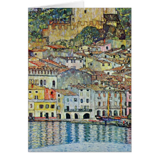Malcesine on Lake Garda By Gustav Klimt Card
