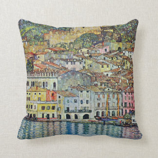 Malcesine on Lake Garda By Gustav Klimt Throw Pillow