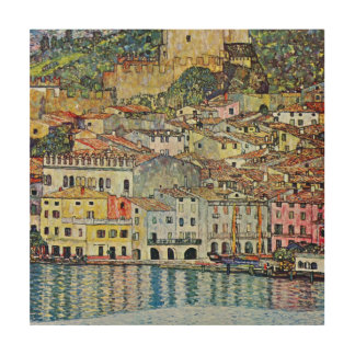 Malcesine on Lake Garda By Gustav Klimt Wood Wall Art