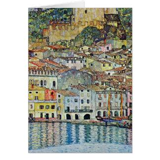 Malcesine on Lake Garda By Klimt, Art Nouveau Greeting Card