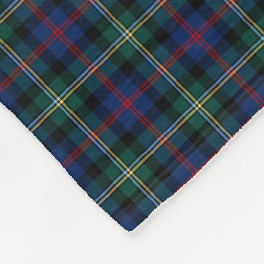 Malcolm Clan Dark Blue and Forest Green Tartan