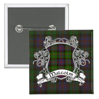 Malcolm Tartan Shield 15 Cm Square Badge