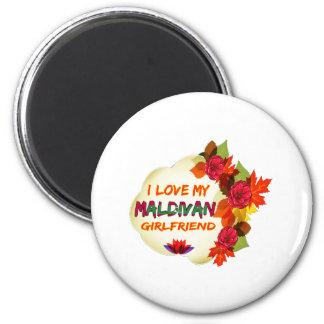 Maldivan Girlfriend designs 6 Cm Round Magnet