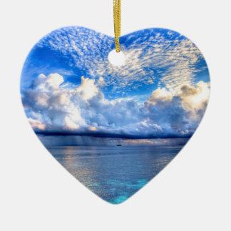 MALDIVES 1 CERAMIC HEART DECORATION