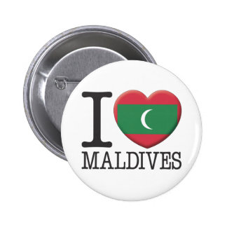 Maldives 6 Cm Round Badge