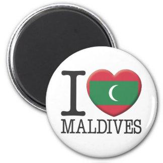 Maldives 6 Cm Round Magnet
