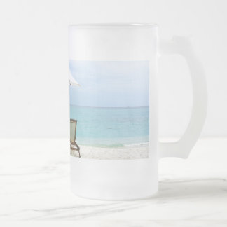 Maldives Beach Frosted Glass Beer Mug