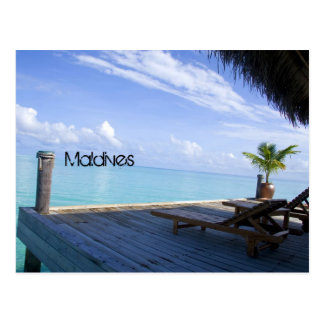 Maldives beach postcard