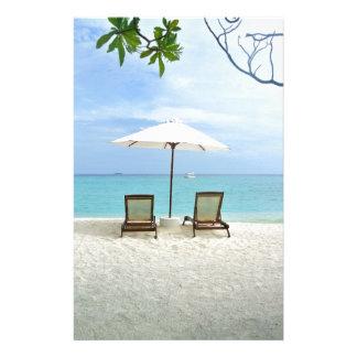 Maldives Beach Stationery Design