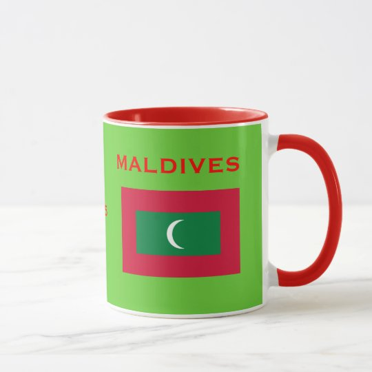Maldives* Coat of Arms and Flag Mug