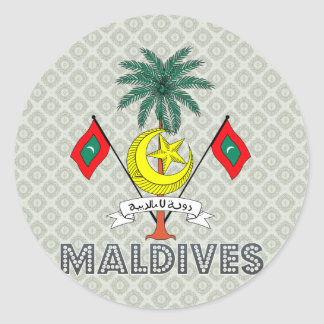Maldives Coat of Arms Classic Round Sticker