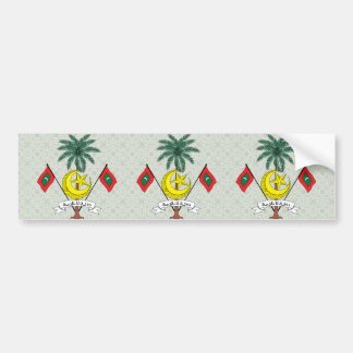 Maldives Coat of Arms detail Bumper Sticker