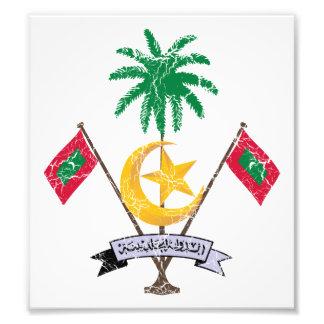 Maldives Coat Of Arms Art Photo