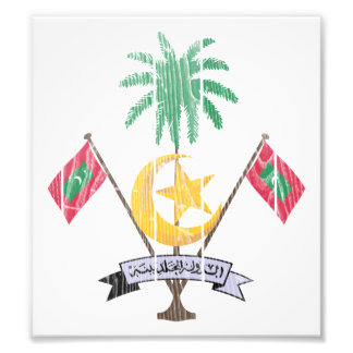 Maldives Coat Of Arms Photographic Print