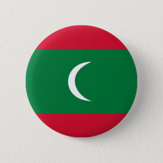 maldives country flag nation symbol 6 cm round badge