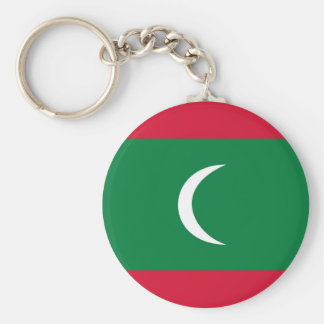 maldives country flag nation symbol basic round button key ring