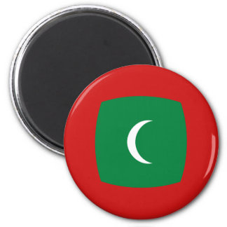 Maldives Fisheye Flag Magnet