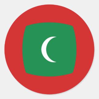 Maldives Fisheye Flag Sticker