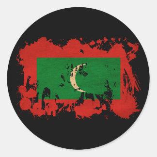 Maldives Flag Classic Round Sticker