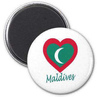 Maldives Flag Heart Magnet