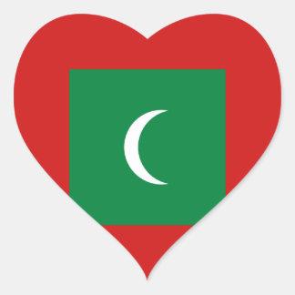 Maldives Flag Heart Sticker