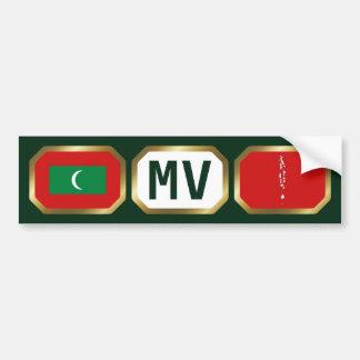 Maldives Flag Map Code Bumper Sticker