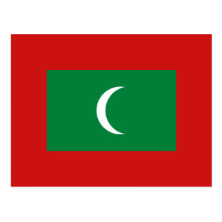 Maldives Flag Postcard