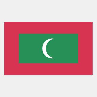 Maldives Flag Rectangular Sticker