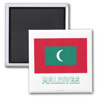 Maldives Flag with Name Magnet
