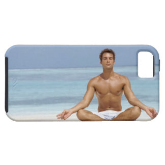 Maldives, Handsome young man meditating in a Case For The iPhone 5